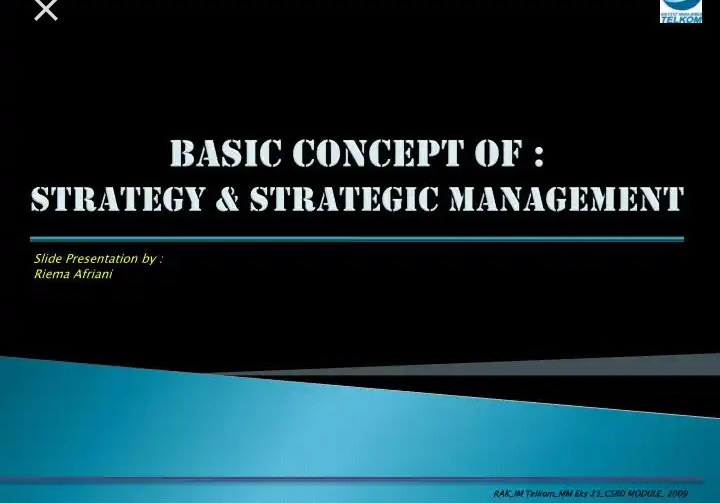 BASIC CONCEPTS IN STRATEGIC MANAGEMENT PART TWO